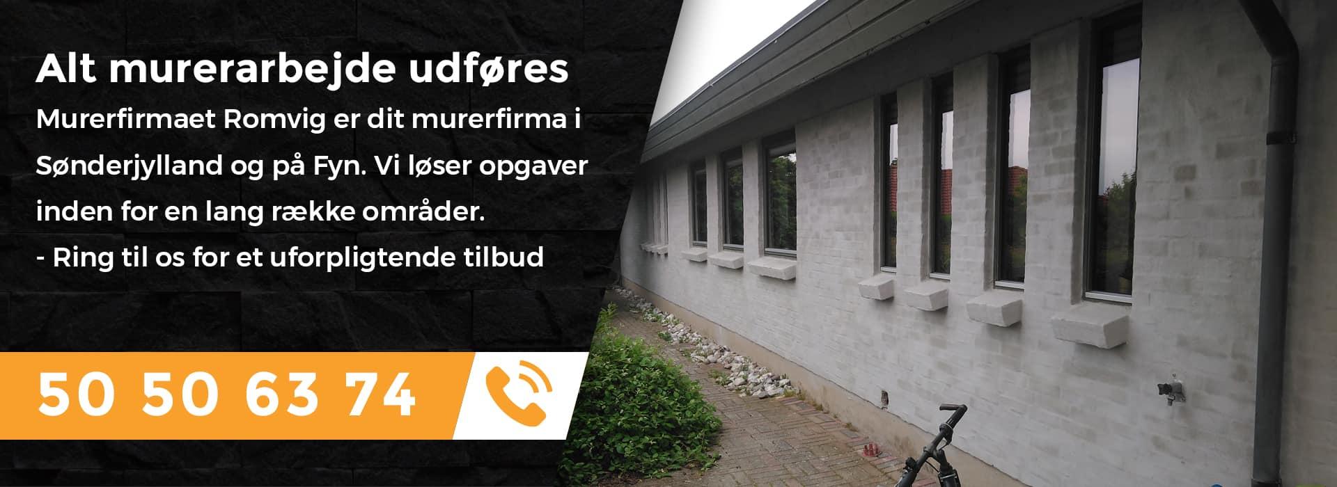 Murer i Sønderjylland og på Fyn udfører alt murerarbejde