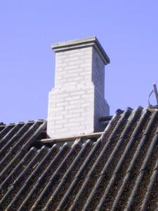 Reparation af skorsten ved Murerfirmaet Romvig