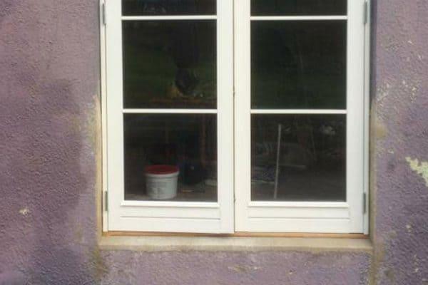 Ny terrassedør og lille vindue