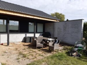 Renovering af hus i Søgård med armeringspudsning